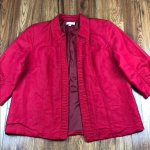 Dressbarn Woman Red Blazer 18/20